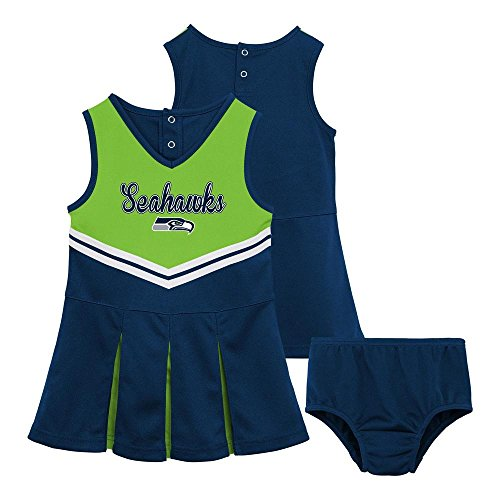 Seattle Seahawks Toddler 4T Cheerleader Dress Matching Bloomers Costume - Seahawks Cheerleader Costumes