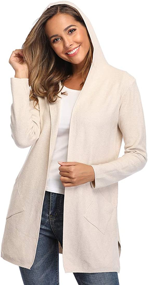 papasgix Cardigan Sweaters for Women Boho Color Block Long Sleeve Open Front Knit Coat with Pockets Lightweight Sweaters