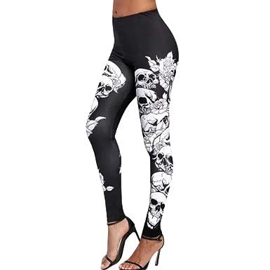 Tête Sport Halloween Legging Yoga De Femme Mort Imprimé Aelegant wqxYT6PgB6