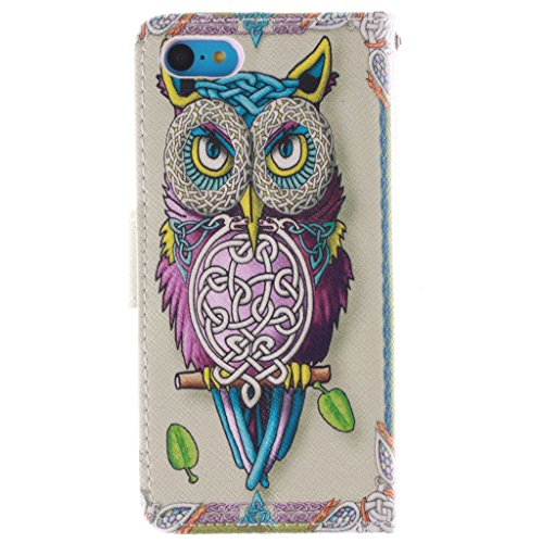 2015 New Fashion Wallet Case Pour Apple iphone 5c , Yaobai elegant Fleur [Magnetique] Portefeuille PU Cuir [Closure] Stand Folio Protecteur Housse Etui Coque Case Cover Pour Apple iphone 5c
