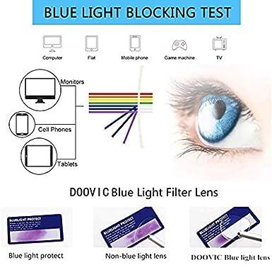 Gafas con filtro de luz azul para ordenador con marco de iones negativos DOOVIC