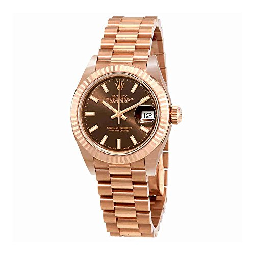 Rolex Lady Datejust Chocolate Dial 18K Everose Gold Automatic Watch 279175CHSP