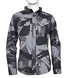 Tony Hawk Boys Long Sleeve Button Down Shirt with All Over Print BLK HTHR 10/12