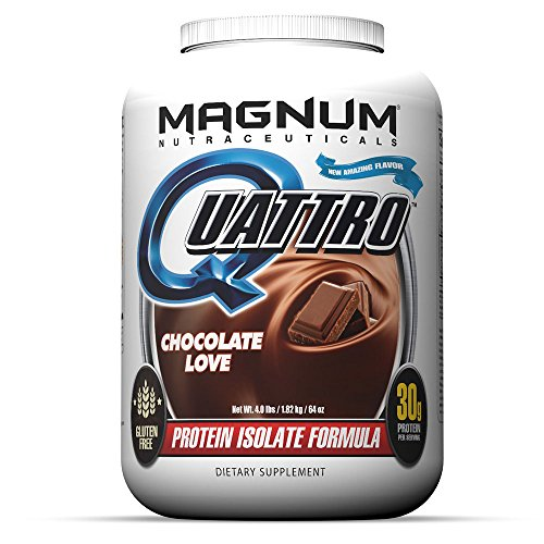 Magnum Nutraceuticals Quattro Protein Powder - 4lbs - Chocolate Love - Protein Isolate - Lean Muscle Creator - Metabolic Optimizer by Magnum