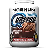 Magnum Nutraceuticals Quattro Protein Powder - 4lbs - Chocolate Love - Protein Isolate - Lean Muscle Creator
