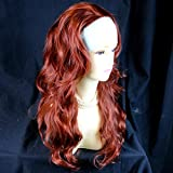 Wiwigs ® Copper Red 3/4 Fall Hairpiece Long Wavy Layered Half Wig Hair Piece