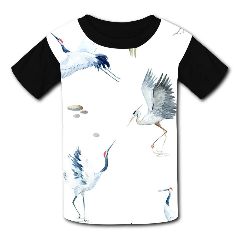 Flamingos Summer T-Shirt Childrens Fashion Simple and Comfortable
