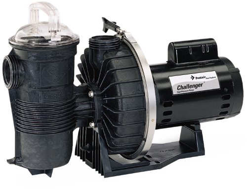Pentair CHII-N1-3/4A Challenger Standard Efficiency Single Speed Up Rated High Pressure Inground Pump, 3/4 HP ()