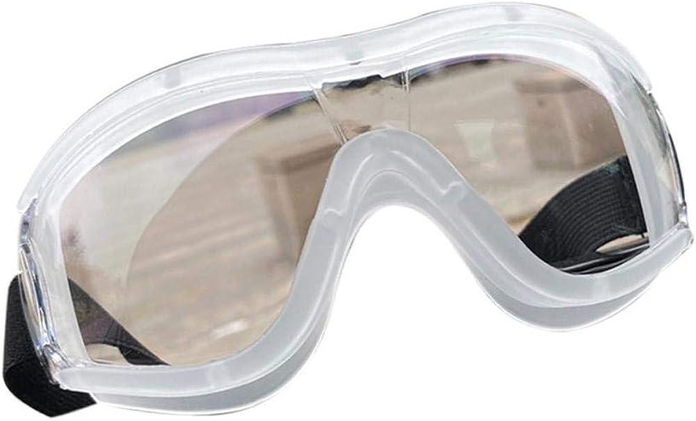 Gafas protectoras de seguridad, antivaho y antigotas, antipolvo, gafas de protección de ojos y gafas protectoras, perfectas para construcción, trabajo de laboratorio, banda elástica ajustable para