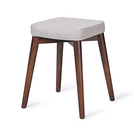 Awesome Amazon Com Grjxmd White 4 Leg Ottoman Table Stool Wooden Pdpeps Interior Chair Design Pdpepsorg