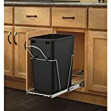 Rev-A-Shelf 35 Qt. Pull-Out Waste Container, Black