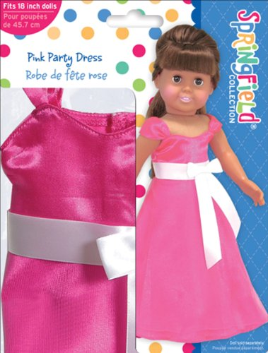 Fiber Craft Springfield Collection Party Dress for Doll, Pink image