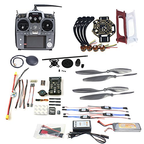 QWinOut DIY FPV Drone Quadcopter 4-axle Aircraft Kit :450 Frame + PXI PX4 Flight Control + 920KV Motor + GPS + AT10 Transmitter + Props (Quad Copter Frame 450 compare prices)