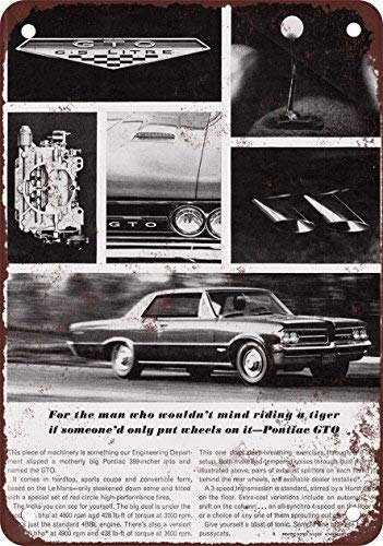 - DOPN 1964 Pontiac GTO Vintage Look Reproduction Metal Tin Sign 8x12 inches