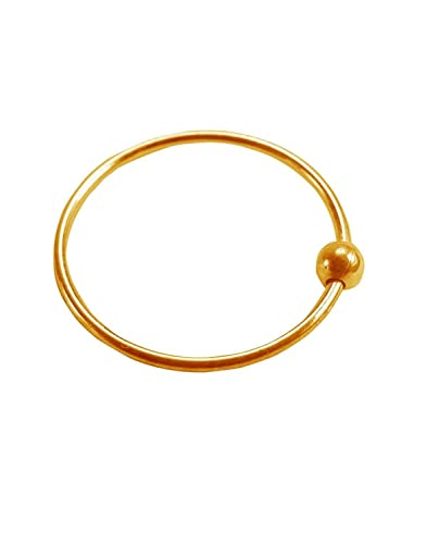 Buy Gandhi Jewellers Shiny Gold Metal Nose Ring At Amazon In