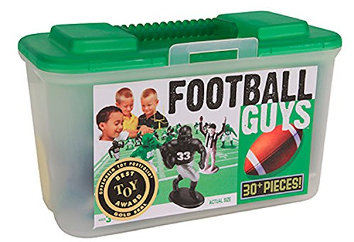 Kaskey Kids Football Guys - Black/Green Inspires Imagination with endless hours of creative, open-ended play. Includes 2 Full Teams & Accessories. Fun way to teach the rules of the game. - Runner Nfl Mat