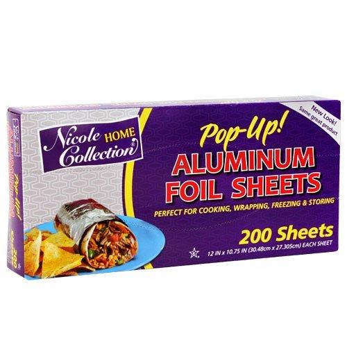 Aluminum Foil 12 x 10-3/4 pre-cut - 200 (Nicole Wrap)