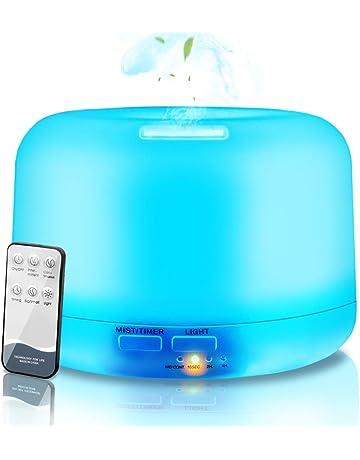 NAIXUES Humidificador Ultrasónico Aromaterapia 300ml con Control Remoto, Difusor de Aceites Esenciales, 7-