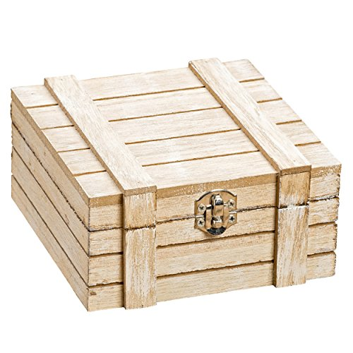 Wood Candy Box - Whole House Worlds The Cozy Cabin Latched Keepsake Box, Table Top Decorative Storage Gift Accessory For Coffee Tables and More, Wood, 4 3/4 L x 4 3/4 W x 2 1/4 H Inches, By