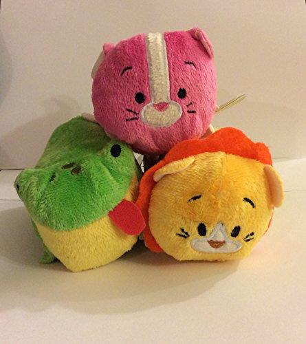 Bun Bun Stacking Set of 3 Plush Minis 4 inches - Fro Fro Frog, Lee Lee Lion, Kit Kit Pink Cat ()