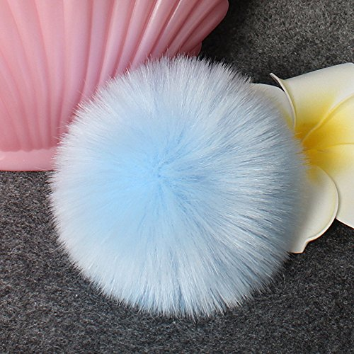 DIY Hat Bag Diadia Accessories for Knitting Charms Shoes Fluffy Faux Blue White Fox Pompom Ball Hat Fur Scarves Ov6SwBqO