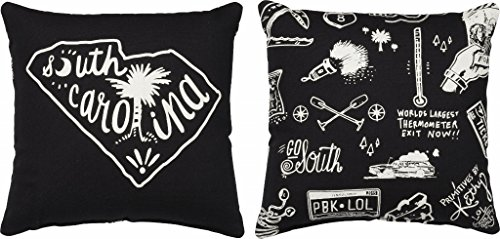 Carolina Decorative Pillow - Primitives by Kathy Home State South Carolina Decorative Throw Pillow, 10-Inch Square