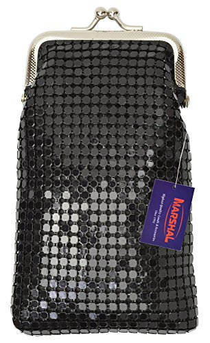 (New Design Sequin Cigarette Case By Marshal (Black))