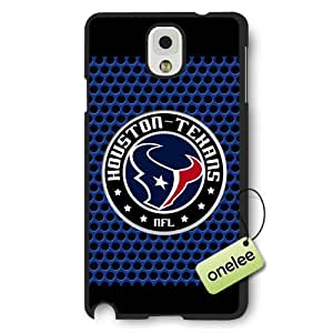 Personalize NFL Houston Texans Team Logo Frosted Black Samsung Galaxy Note 3 Case Cover - Black