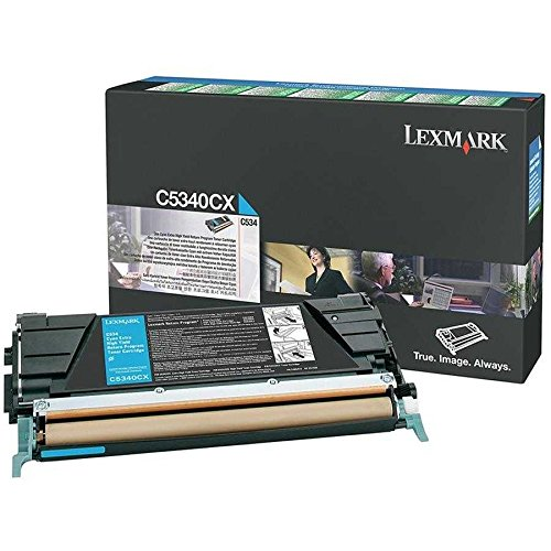 Price comparison product image C5340CX Lexmark Extra High Yield Return Program Cyan Toner Cartridges for C534 series.