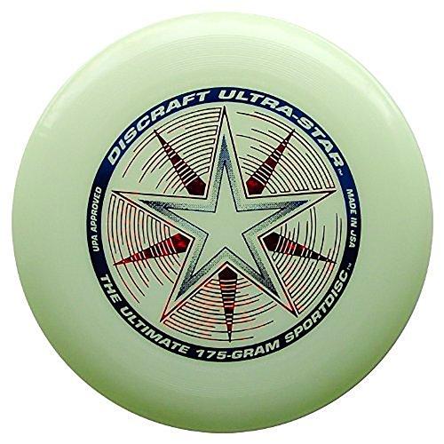 Discraft 175 gram Ultra Star Sport Disc, Nite - Up Disc Light Golf