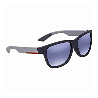 aa149770c86 Image Unavailable. Image not available for. Colour  Prada Linea Rossa Light Grey  Gradient Blue Square Mens Sunglasses ...