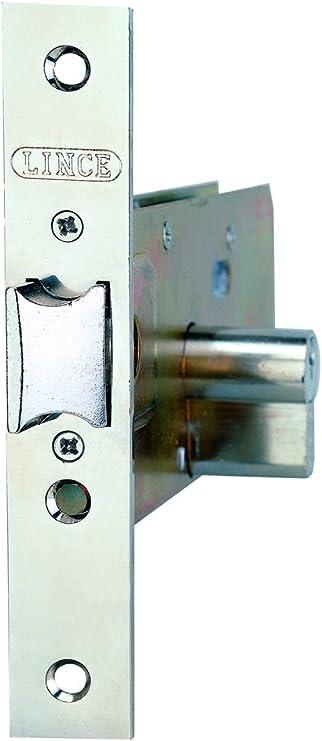 LINCE 3017035 Cerradura 5557 Inoxidable / 70 mm, 0 W, 0 V, Cromo: Amazon.es: Bricolaje y herramientas