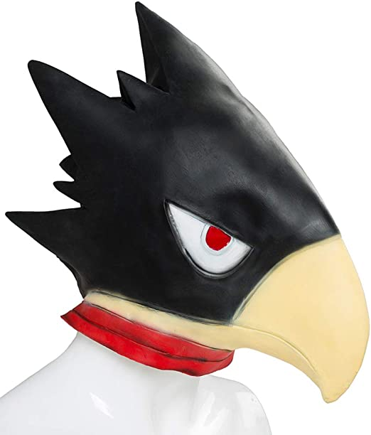 Anime My Hero Academia Tokoyami Fumikage Cosplay Masks Crow Head Latex Full Head Props Halloween