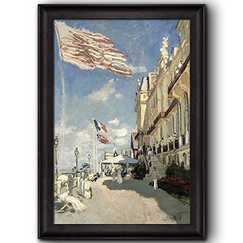 Hotel des Roches Noires Trouville 1870 by Claude Monet Framed Art