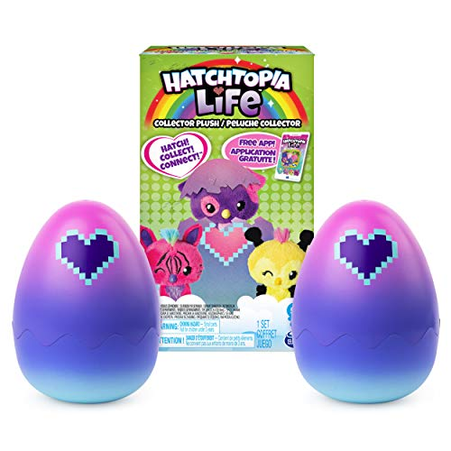 "Hatchimals Hatchtopia Life 2 Pack, 2"" Tall Plush with Interactive Game, for Ages 5 & Up (Styles May Vary)"