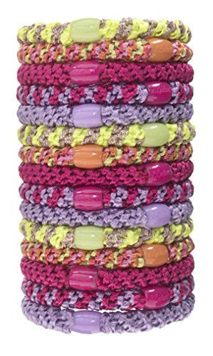 L. Erickson Grab & Go Ponytail Holder, Tahiti, Set of Fifteen - Exceptionally Secure with Gentle Hold