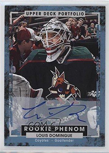 Louis Domingue (Hockey Card) 2015-16 Upper Deck Portfolio - [Base] - Autographs [Autographed] #236