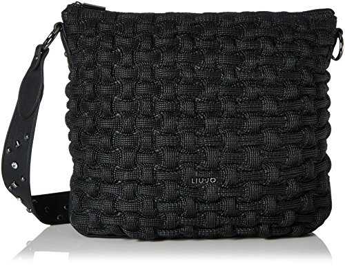 Liu Jo Anger Crinkle - Borse a spalla Donna, Schwarz (Black), 9x35x40 cm (B x H T)