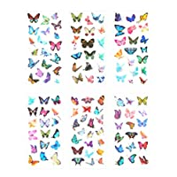 Funrarity Butterfly Stickers Washi Stickers for Diary, Scrapbook, Journal, Album (12 Sheets)