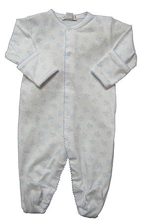 df6424b3d01 Kissy Kissy Baby-Boys Infant Sweet Rockers Print Footie-White With Blue- Preemie