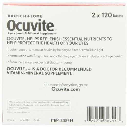 Bausch + Lomb Ocuvite Eye Vitamin & Mineral Supplement with Lutein - 240 Tablets (Pack of 3) by Bausch & Lomb (Image #5)