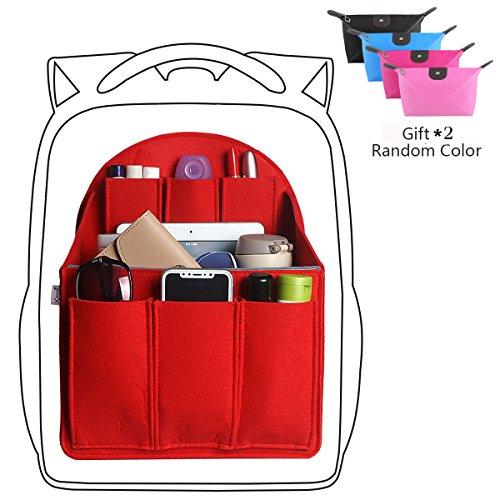 24194ed7d29e xhorizon SR Felt Backpack Organizer Insert, Handbag Organizer, Backpack  Purse and Travel Backpack, Multi Pocket Bag in Bag Organizer for Tote & ...