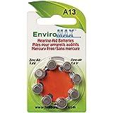Fuji EnviroMaxTM A13 Hearing Aid Batteries, 8 Pack