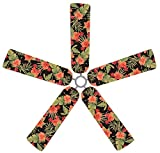 Fan Blade Designs Tropical Hibiscus Ceiling Fan Blade Covers