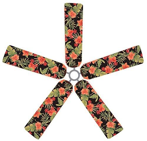 (Fan Blade Designs Tropical Hibiscus Ceiling Fan Blade)