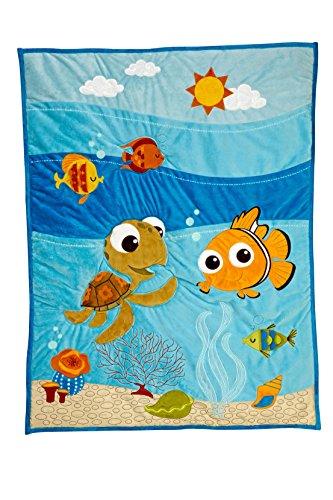 Applique Crib Quilt - Disney Finding Nemo Applique Luxury Quilt (Crib Comforter Only)