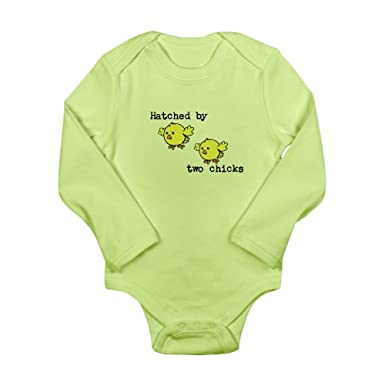 b3d4e5da3 Amazon.com  CafePress - Hatched by two chicks Long Sleeve Infant ...