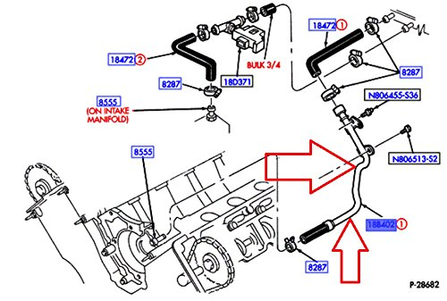 Motorcraft KH-610 Heater Hose