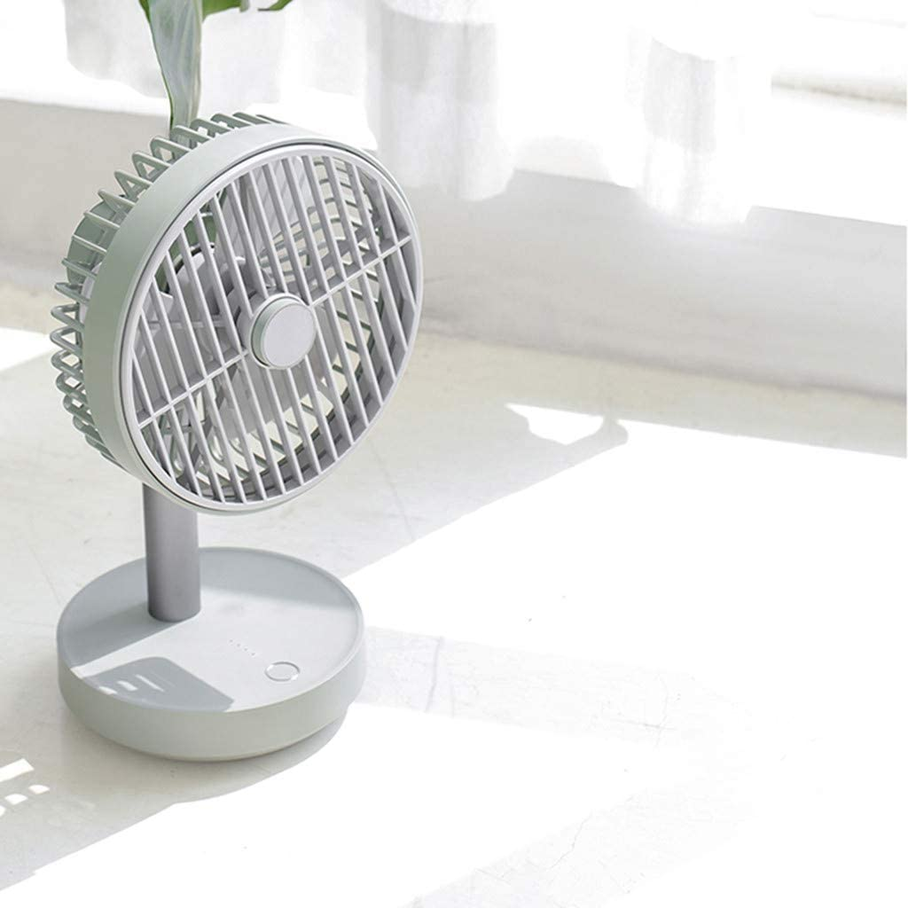 Togethor Small Personal USB Desk Fan,3 Speeds Portable Desktop Table Cooling Fan Powered by USB,Strong Wind,Quiet Operation,for Home Office Car Outdoor Travel Natural White