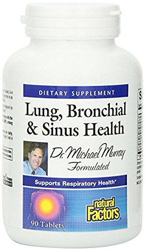 Natural Factors - Lung, Bronchial, & Sinus Health, All-Natural Formula, 90 Tablets